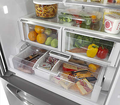 36 Quot Black French Door Refrigerator Mfi2570feb Maytag